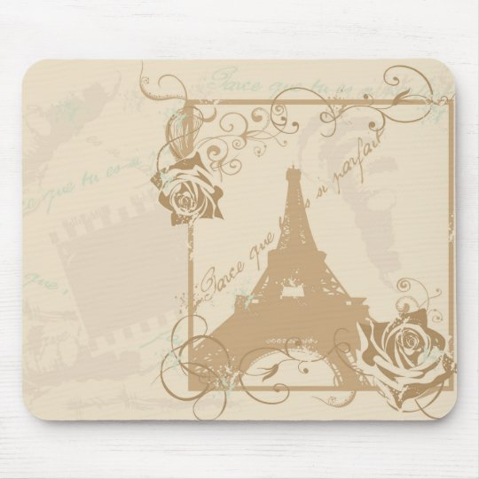Retro Paris Mousepad