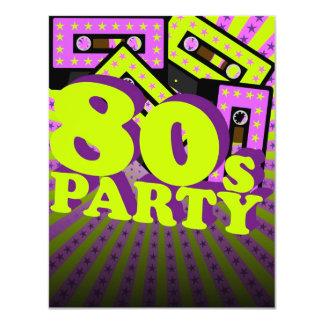 Retro Party 11 Cm X 14 Cm Invitation Card