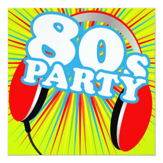 Retro Party 13 Cm X 13 Cm Square Invitation Card