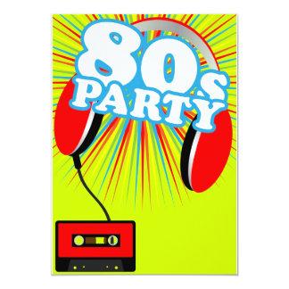 Retro Party 13 Cm X 18 Cm Invitation Card