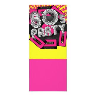 Retro Party Background 10 Cm X 24 Cm Invitation Card