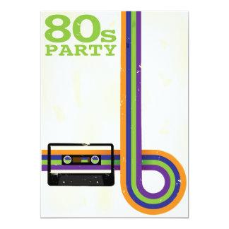 Retro Party Background 13 Cm X 18 Cm Invitation Card