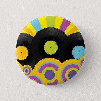 Retro Party Background 6 Cm Round Badge