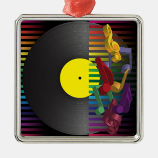 Retro Party Background Christmas Ornament