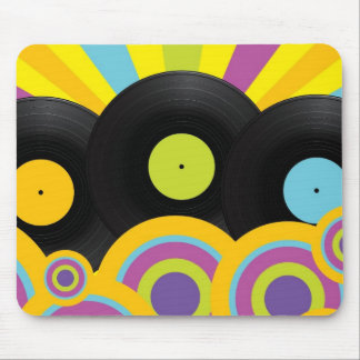 Retro Party Background Mouse Mat