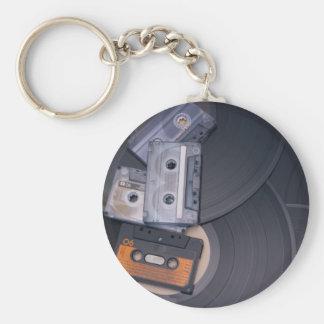 Retro Party Basic Round Button Key Ring
