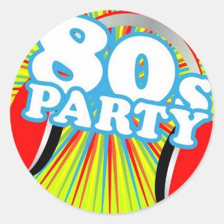 Retro Party Classic Round Sticker