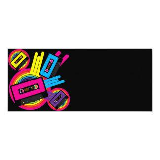 Retro Party Design 10 Cm X 24 Cm Invitation Card