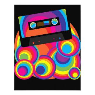 Retro Party Design 11 Cm X 14 Cm Invitation Card