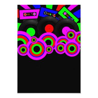 Retro Party Design 13 Cm X 18 Cm Invitation Card