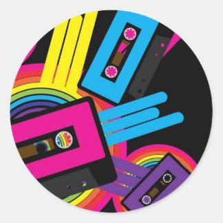 Retro Party Design Classic Round Sticker