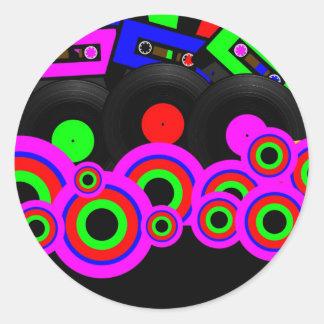 Retro Party Design Sticker