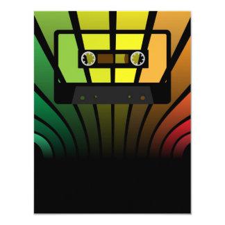 Retro Party 4.25x5.5 Paper Invitation Card