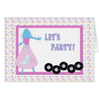 Retro Party Invitation Greeting Card