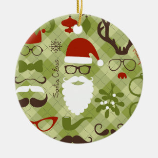 Retro Party Set - Santa Claus Beard, Hats, Deer Christmas Ornament