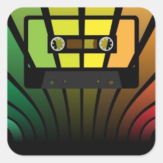 Retro Party Square Sticker