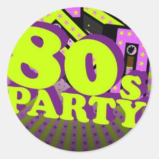 Retro Party Stickers
