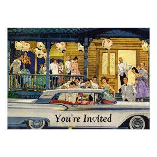 Retro Party Time Invitations