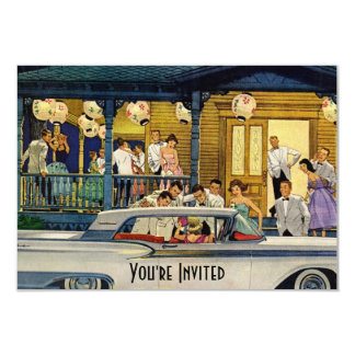 Retro Party Time V2 9 Cm X 13 Cm Invitation Card