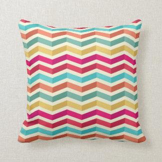 Retro Pastel Chevron Pattern Cushion
