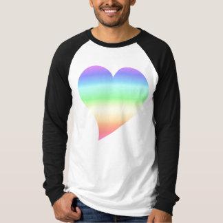 Retro Pastel Rainbow Heart T Shirts