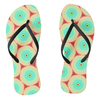Retro pastels boiled sweets in circles flip flops