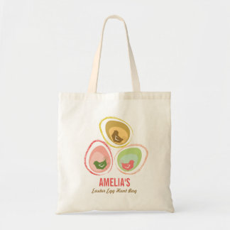 Retro Pastels Chicks Chic Cute Easter Egg Hunt Bag