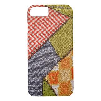 retro patchwork crazy quilt design iPhone 8/7 case
