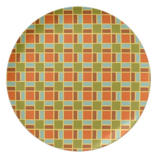 Retro Patio Tiles Plate