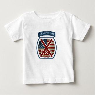 Retro Patriotic 10th Mountain Division Baby T-Shirt