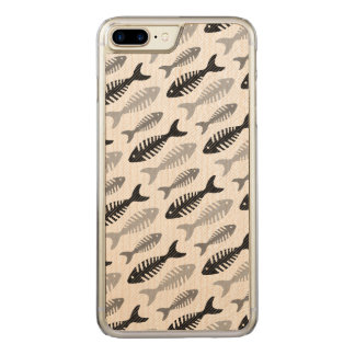 Retro Pattern 1950s Seafood Restaurant Fishbone Carved iPhone 7 Plus Case