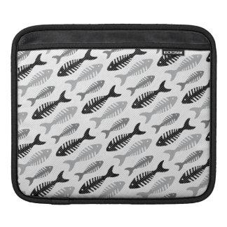 Retro Pattern 1950s Seafood Restaurant Fishbone iPad Sleeve