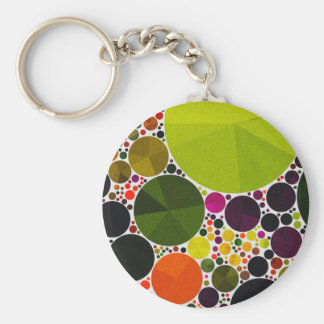 Retro Pattern Abstract Bling Dots Keychains