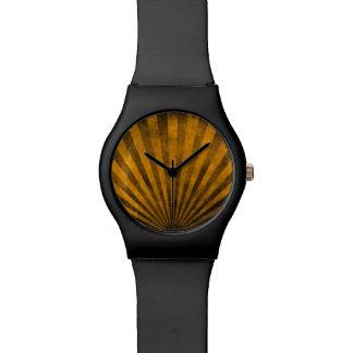 Retro pattern background watch