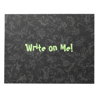 Retro Pattern Black Notepad