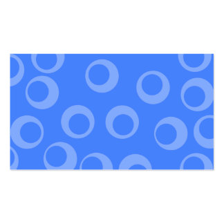 Retro pattern. Circle design in blue. Business Cards