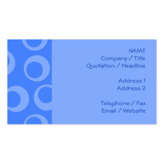 Retro pattern. Circle design in blue. Business Card Templates