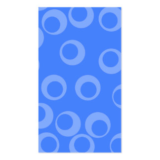 Retro pattern. Circle design in blue. Business Card Template
