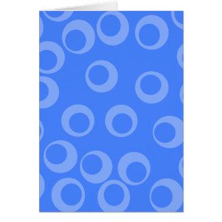 Retro pattern. Circle design in blue. Note Card