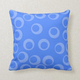 Retro pattern Circle design in blue Pillows