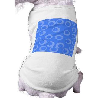 Retro pattern Circle design in blue Doggie T-shirt