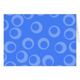 Retro pattern. Circle design in blue. Greeting Card