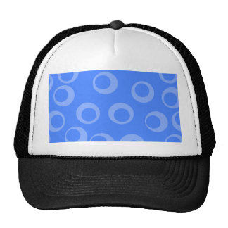 Retro pattern. Circle design in blue. Mesh Hats