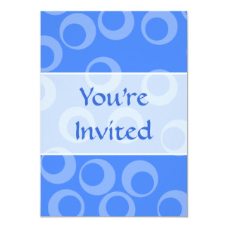 Retro pattern. Circle design in blue. 13 Cm X 18 Cm Invitation Card