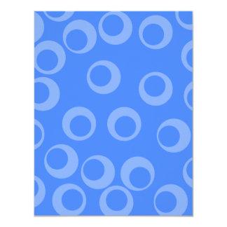 Retro pattern. Circle design in blue. Personalized Invitations