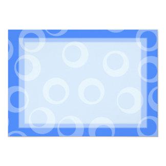 Retro pattern. Circle design in blue. Invite