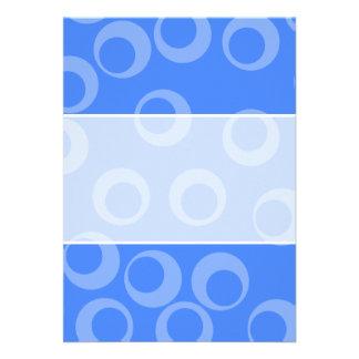 Retro pattern. Circle design in blue. Invitations