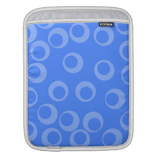 Retro pattern. Circle design in blue. Sleeve For iPads