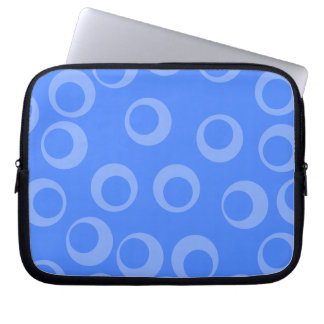 Retro pattern Circle design in blue Computer Sleeves