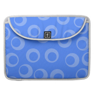 Retro pattern Circle design in blue Sleeve For MacBook Pro